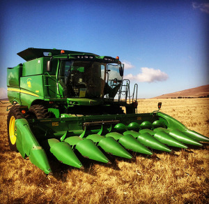 combine harvesting Agricultural Contracting Underberg